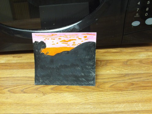 The African sunset card is now complete.