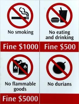 Durian banned on Singapore Mass Rapid Transit