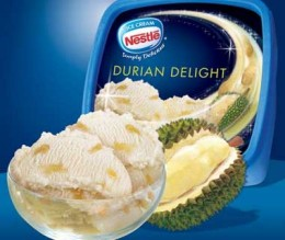 Durian Ice Cream from Nestle?