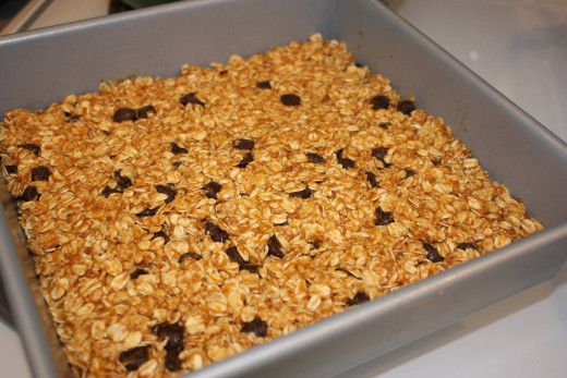Homemade granola bars are a quick and delicious snack.