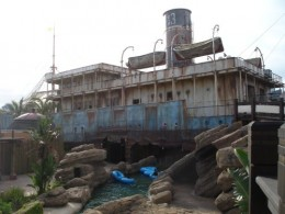 ship wreck and lazy river
