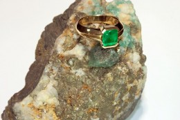 An emerald engagement ring (click to enlarge)