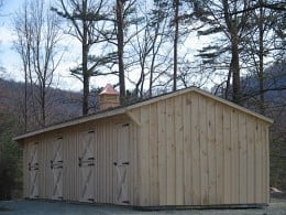 Horse barn kits Shed Row from MGC