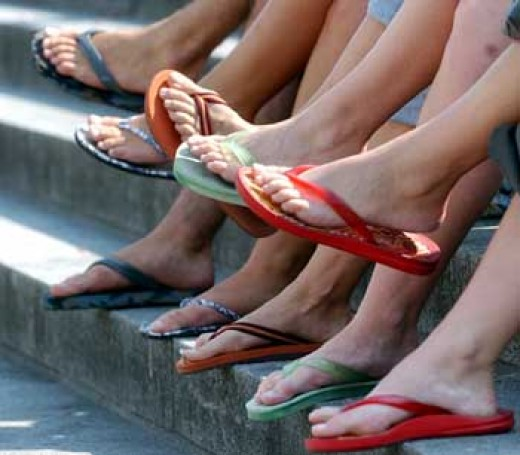 Everybody loves to wear flip flops, all through the summer season!