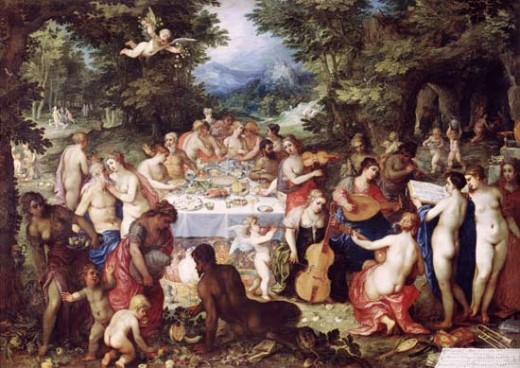 """The Banquet of the Gods""... by Hendrik van Balen the Elder"