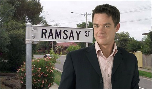 Ramsay Street and Paul Robinson (Stefan Dennis)