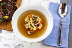 Mushroom Soup of Dried Porcini Mushrooms and Champignons