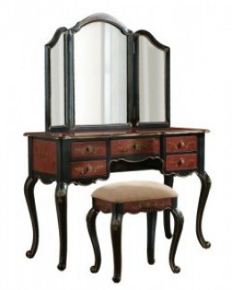 Vanity mirrors can be built into furniture as well