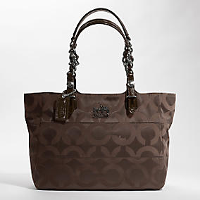 Coach Tribeca Op Art Sateen Tote $268