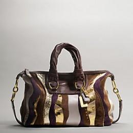 Coach Metallic Leather Large Sabrina $898