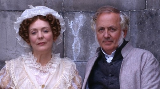 Mr and Mrs Bennet in the BBC version of Pride and Prejudice