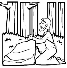 Bible Sunday School Stories Kids Coloring Pages with Free Colouring Pictures to Print  - Garden Gethsemane