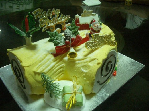 Durian Flavored Yule Log