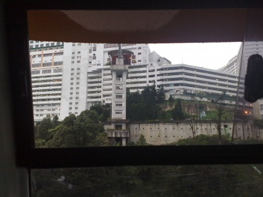 A view of hotels from Cable car