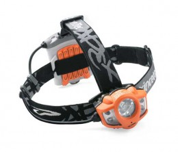 A typical LED headlamp