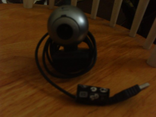 The Logitech Webcam.