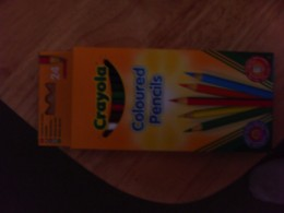 Crayola coloured pencils.