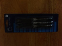 My preferred ink roller pens. and they are cheap from Asda(A Wallmart Owned Company!).