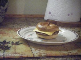 Quick and easy Breakfast Bagel