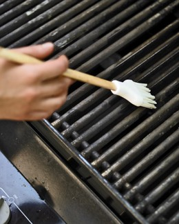 Oiling your grill before each use will prevent food from sticking.