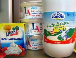 Lactose-free dairy products.  http://www.flickr.com/photos/cathepsut/3727632032/