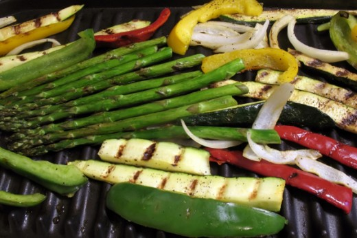 Grilled vegetables taste so good!