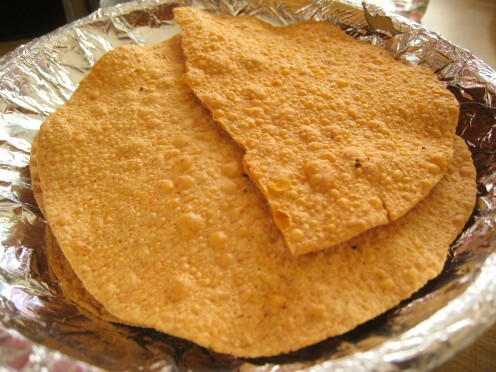 Jackfruit papadums from Bangalore, India