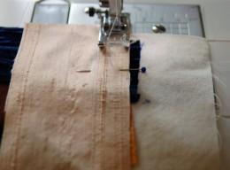 Stitching the seam
