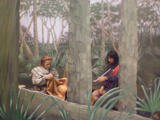 One of the first meetings between natives and new Savannah settlers.