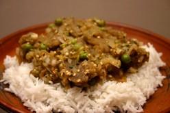 Eggplant Bharta with Peas Recipe
