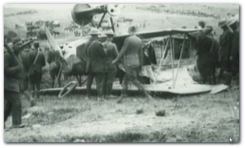Many young airmen shot their own propellers off by attempting to fire between the rotations of the blades. The Germans were first to solve this problem, by calabrating the guns with an interrupter cam.