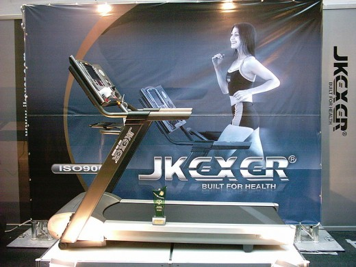 An Electric Treadmill On Display