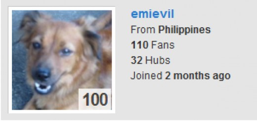 My 100 hub score!