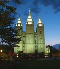 Salt Lake Temple - I shot this on a beautiful August evening this past summer.  I love photography, although an amateur.