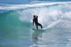 Shortboard in action