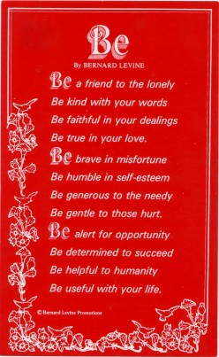 BE By BERNARD LEVINE
