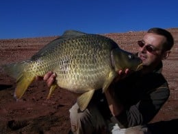 That's a very nice catch by this avid carp angler.