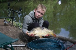 Good looking carp for this young carp fisher.