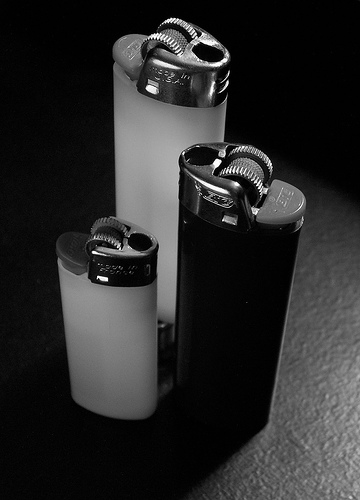 Disposable lighters are one option available, but aren't necessarily reliable.