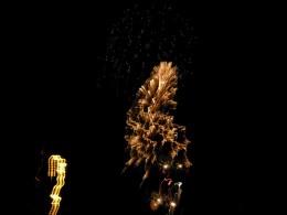 Fireworks over Charleston harbor celebrating our nation's birth.