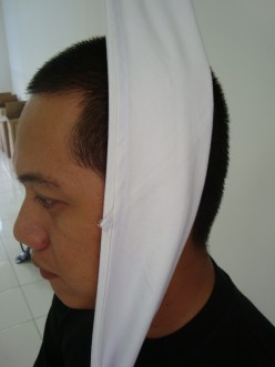 HOW TO APPLY FOR EAR OR CHEEK BANDAGE