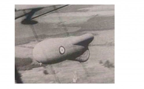 Before parachutes were in use the observers had to slide down a rope to freedom, before the balloon burnt; if they were attacked from the air.