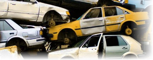 Automobiles in salvage yards