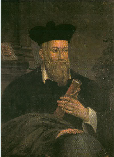 Nostradamus. Famous alchemist from the 16th century. I noticed he'd been hauled in 2012. Probably for good measure.