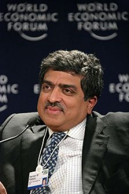 Mr.Nandan Nilekini. Chairperson,UID Authority of India,Vigyan Buildings,New Delhi. Photo:- Courtesy - Wikipedia.