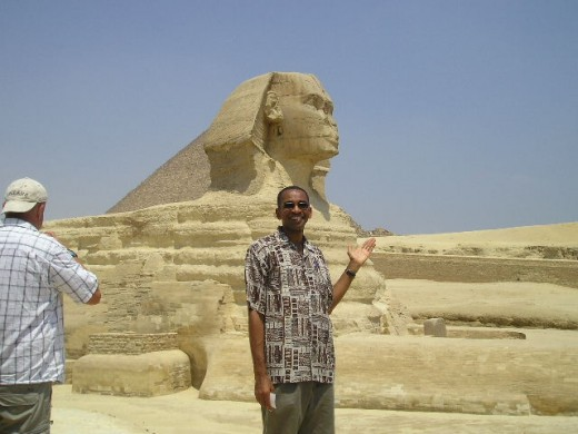 Hanging out with history:  the Sphinx.  Photo by Kadie Caballero