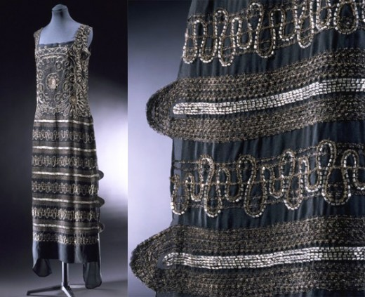 1922 embroidered Chanel dress