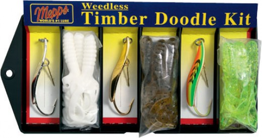 On picture is Mepps Timber Doodle Kit these lures are also weedless lures, they are extremly effective for bass and for perch.