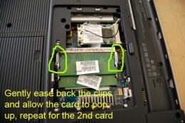 Removing and replacing the memory cards