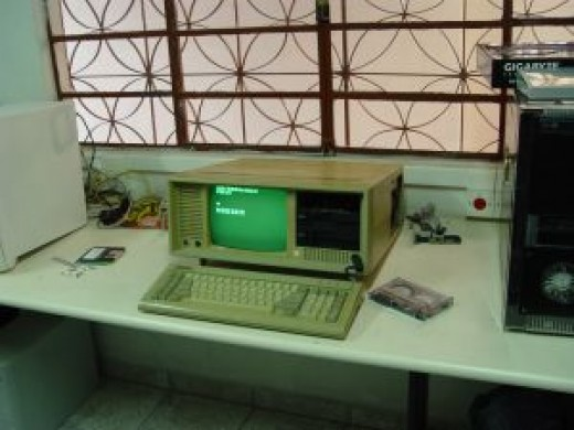 Not a PC in the original sense; sometimes referred to as a 'luggable' computer.